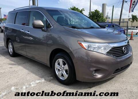 2016 Nissan Quest for sale at AUTO CLUB OF MIAMI, INC in Miami FL