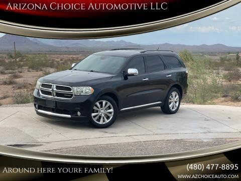 2011 Dodge Durango for sale at Arizona Choice Automotive LLC in Mesa AZ