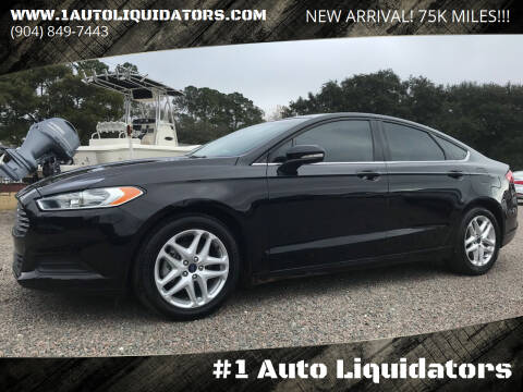 2016 Ford Fusion for sale at #1 Auto Liquidators in Yulee FL