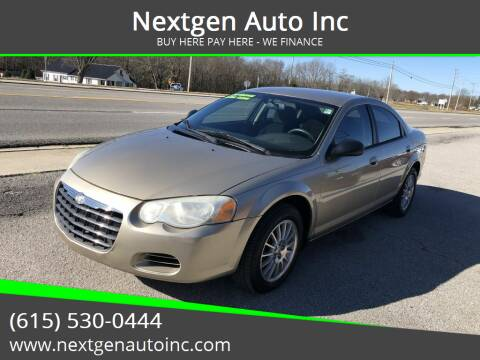 2004 Chrysler Sebring for sale at Nextgen Auto Inc in Smithville TN