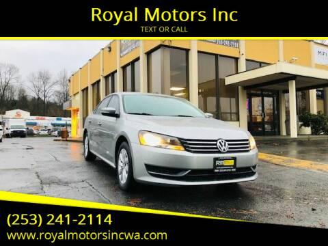 2013 Volkswagen Passat for sale at Royal Motors Inc in Kent WA