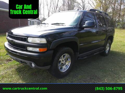 2005 Chevrolet Tahoe for sale at Car And Truck Central in Dillon SC