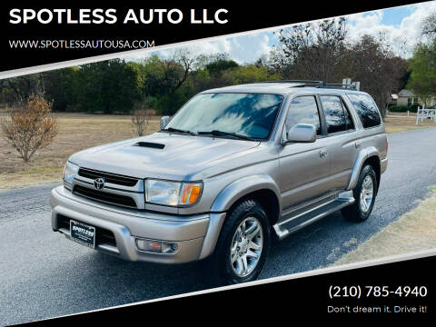 2002 Toyota 4Runner for sale at SPOTLESS AUTO LLC in San Antonio TX