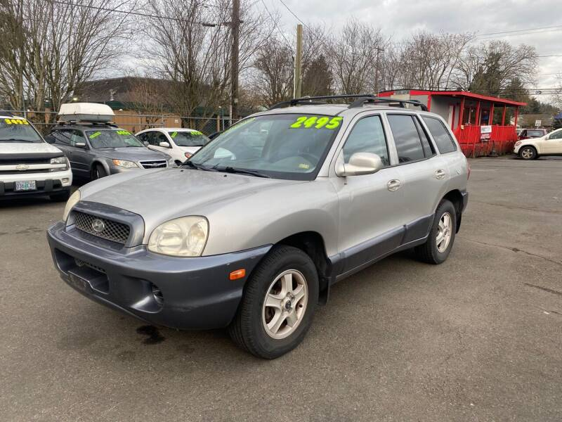2003 Hyundai Santa Fe for sale at Blue Line Auto Group in Portland OR