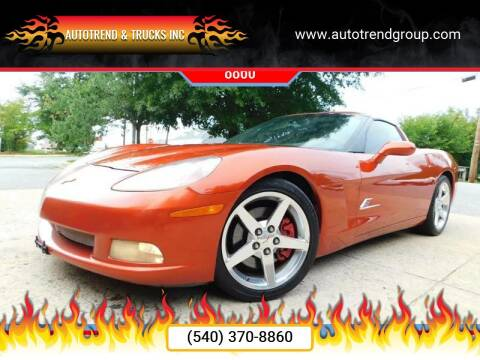 2005 Chevrolet Corvette for sale at AutoTrend & Trucks Inc in Fredericksburg VA