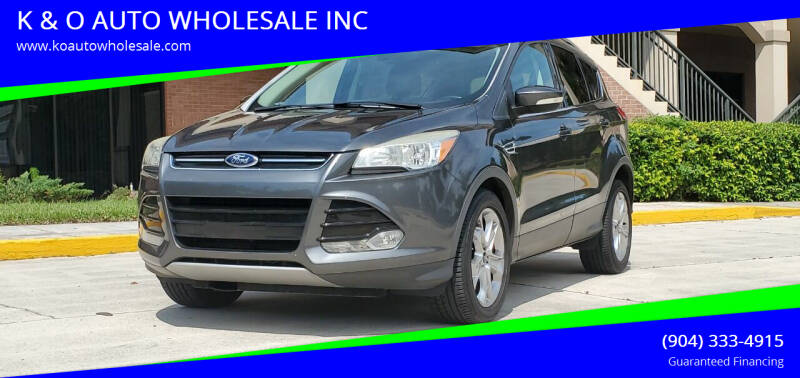 2015 Ford Escape for sale at K & O AUTO WHOLESALE INC in Jacksonville FL