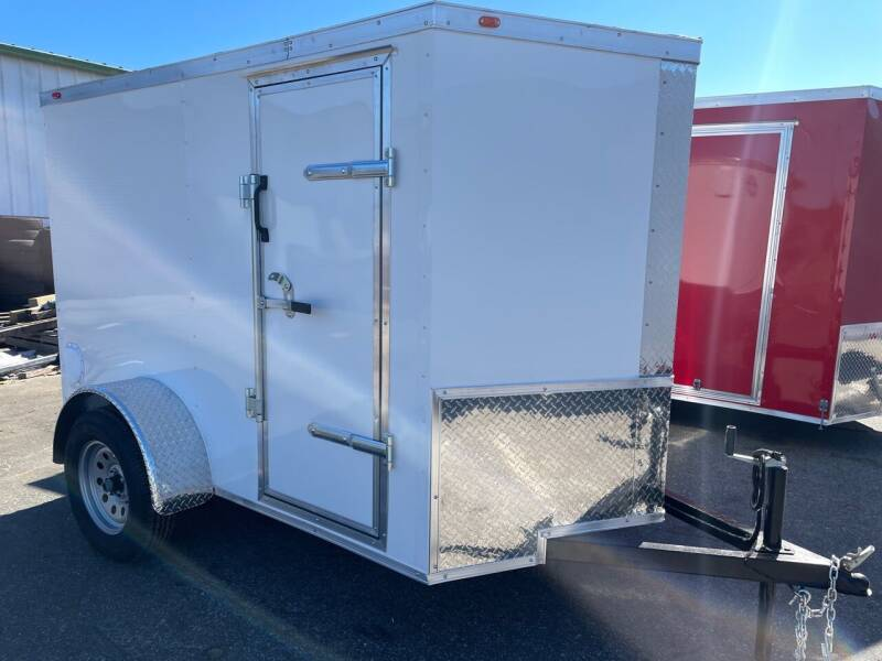 2021 5x8 Single Axle Enclosed Cargo Trailer for sale at Direct Connect Cargo in Tifton GA