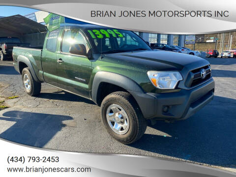 2012 Toyota Tacoma for sale at Brian Jones Motorsports Inc in Danville VA