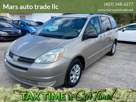 2004 Toyota Sienna for sale at Mars auto trade llc in Kissimmee FL