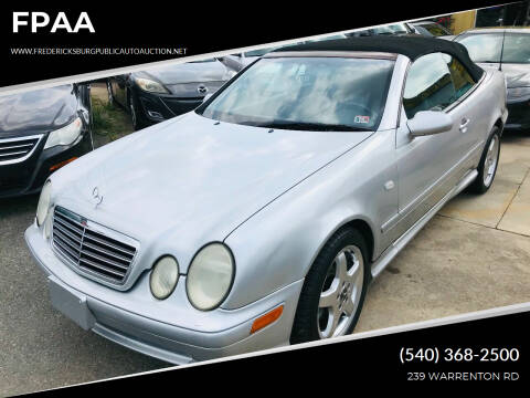 1999 Mercedes-Benz CLK for sale at FPAA in Fredericksburg VA