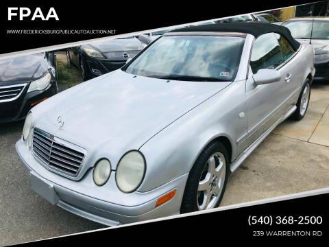 1999 Mercedes-Benz CLK for sale at FPAA in Fredericksburg VA