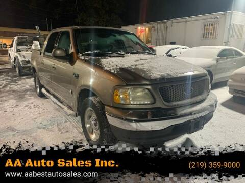 2003 Ford F-150 for sale at AA Auto Sales Inc. in Gary IN