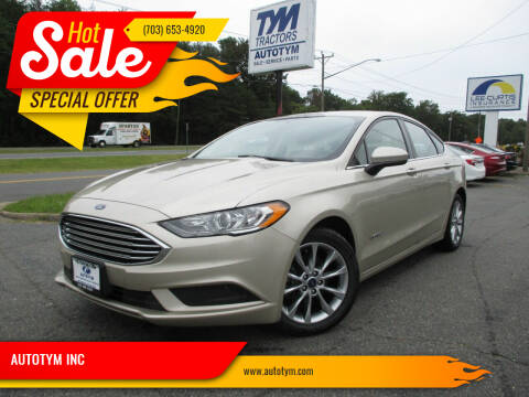 2017 Ford Fusion Hybrid for sale at AUTOTYM INC in Fredericksburg VA