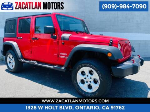 2012 Jeep Wrangler Unlimited for sale at Ontario Auto Square in Ontario CA