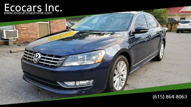 2012 Volkswagen Passat for sale at Ecocars Inc. in Nashville TN