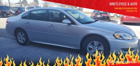 2012 Chevrolet Impala for sale at MIKE'S CYCLE & AUTO in Connersville IN
