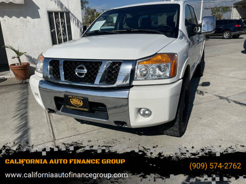 2012 Nissan Titan for sale at CALIFORNIA AUTO FINANCE GROUP in Fontana CA