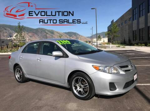 2012 Toyota Corolla for sale at Evolution Auto Sales LLC in Springville UT