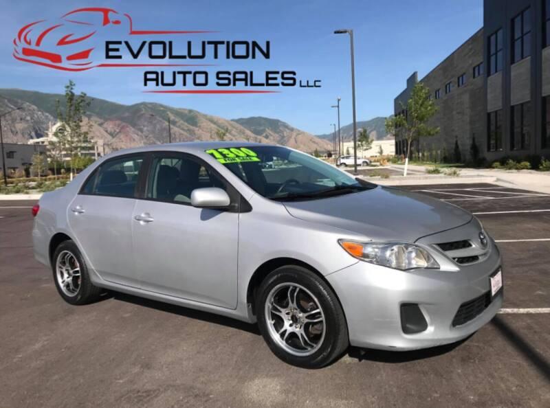 2012 Toyota Corolla for sale at Evolution Auto Sales LLC in Springville UT