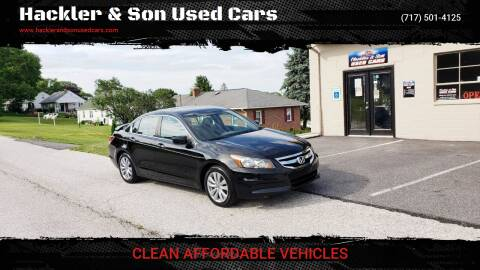 2011 Honda Accord for sale at Hackler & Son Used Cars in Red Lion PA