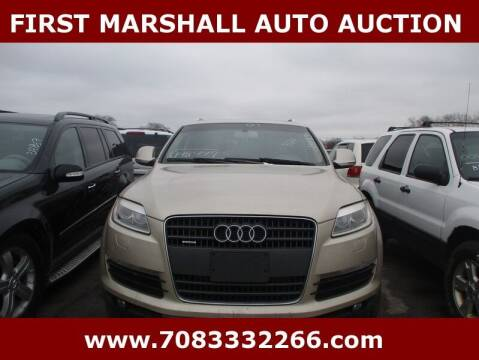2007 Audi Q7 for sale at First Marshall Auto Auction in Harvey IL