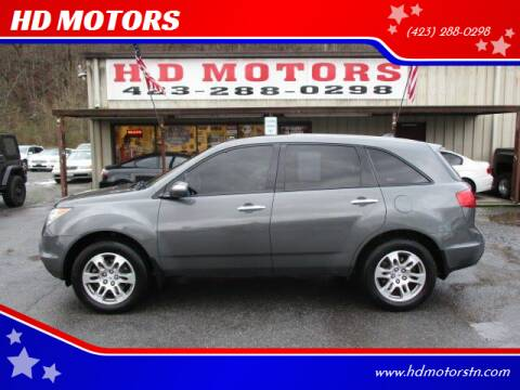 2007 Acura MDX for sale at HD MOTORS in Kingsport TN