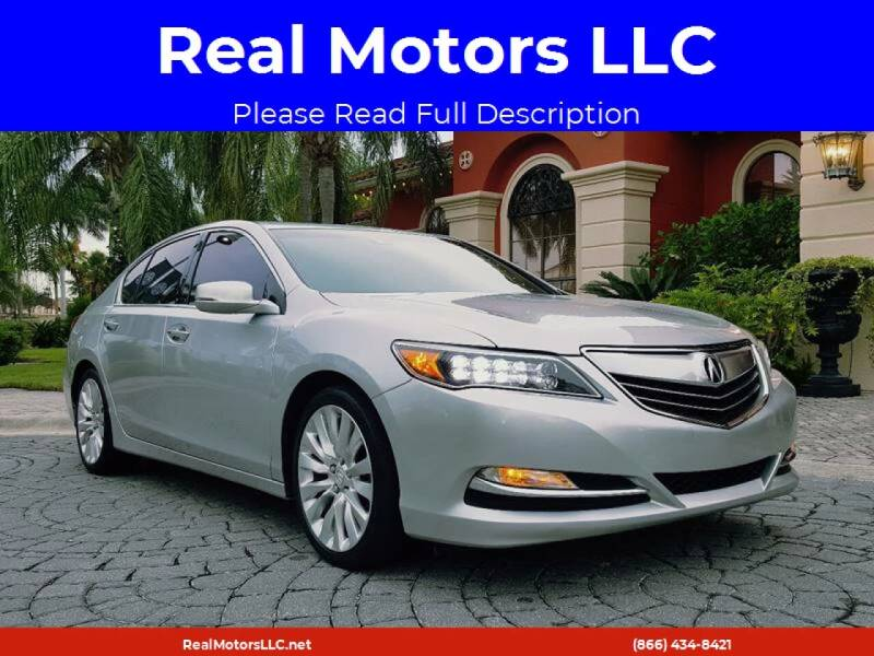 2014 Acura RLX for sale at Real Motors LLC in Clearwater FL