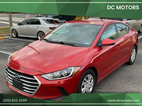 2017 Hyundai Elantra for sale at DC Motors in Springfield VA