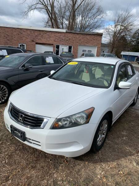 2008 Honda Accord for sale at BEACH AUTO GROUP INC in Fishkill NY