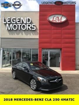 2018 Mercedes-Benz CLA for sale at Legend Motors of Waterford - Legend Motors of Ferndale in Ferndale MI