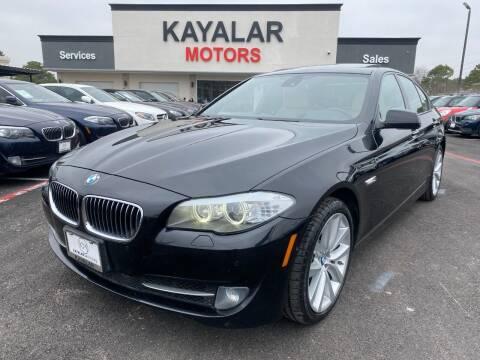 2012 BMW 5 Series for sale at KAYALAR MOTORS in Houston TX