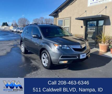 2010 Acura MDX for sale at Western Mountain Bus & Auto Sales in Nampa ID