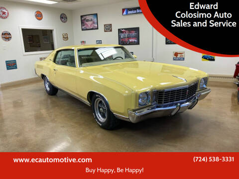1972 Chevrolet Monte Carlo for sale at Edward Colosimo Auto Sales and Service in Evans City PA