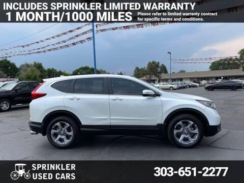 2017 Honda CR-V for sale at Sprinkler Used Cars in Longmont CO