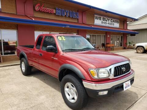 2002 Toyota Tacoma for sale at Ohana Motors in Lihue HI