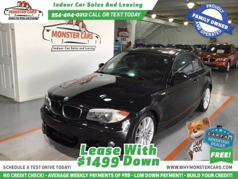 2012 BMW 1 Series for sale at Monster Cars LLC - Lease Vehicles in Pompano Beach FL
