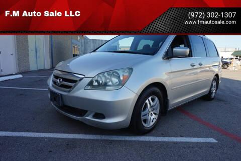 2006 Honda Odyssey for sale at F.M Auto Sale LLC in Dallas TX