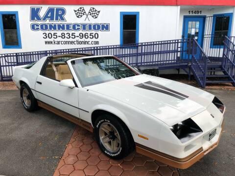 1983 Chevrolet Camaro for sale at Kar Connection in Miami FL