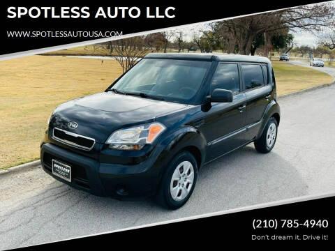 2011 Kia Soul for sale at SPOTLESS AUTO LLC in San Antonio TX