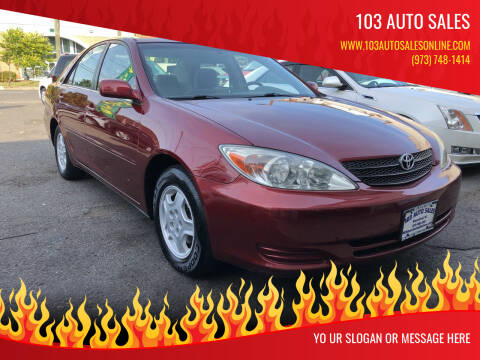 2002 Toyota Camry for sale at 103 Auto Sales in Bloomfield NJ