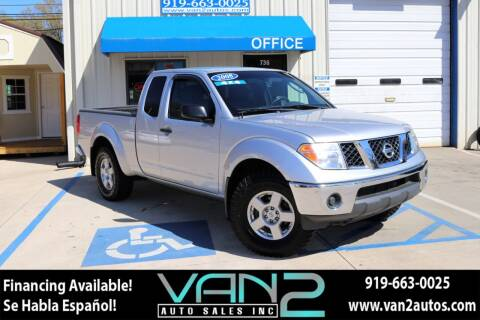 2008 Nissan Frontier for sale at Van 2 Auto Sales Inc in Siler City NC