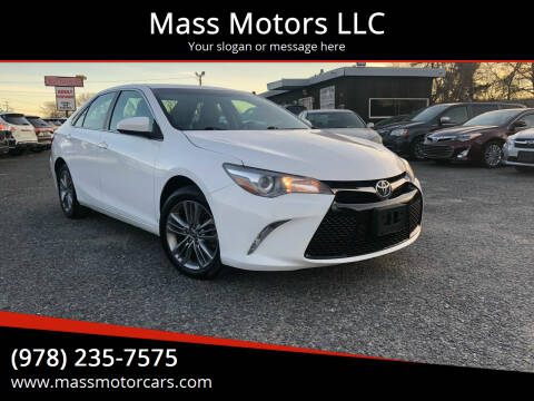 2015 Toyota Camry for sale at Mass Motors LLC in Worcester MA