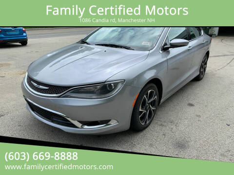 2015 Chrysler 200 for sale at Family Certified Motors in Manchester NH