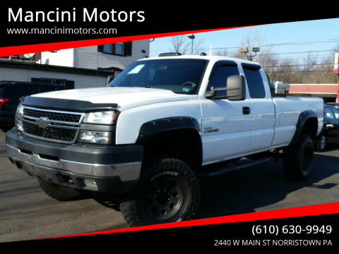 2006 Chevrolet Silverado 2500HD for sale at Mancini Motors in Norristown PA