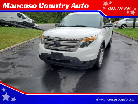 2013 Ford Explorer for sale at Mancuso Country Auto in Batavia NY