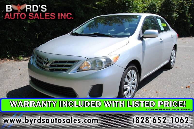 2013 Toyota Corolla for sale at Byrds Auto Sales in Marion NC