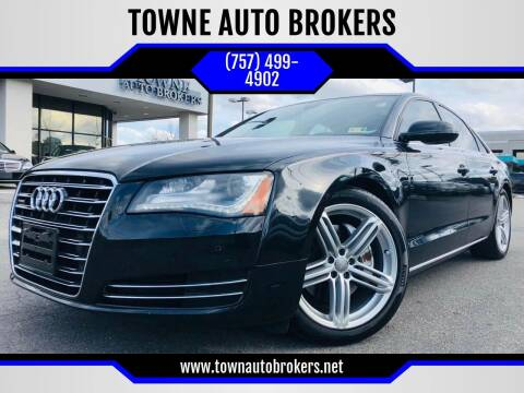 2013 Audi A8 for sale at TOWNE AUTO BROKERS in Virginia Beach VA