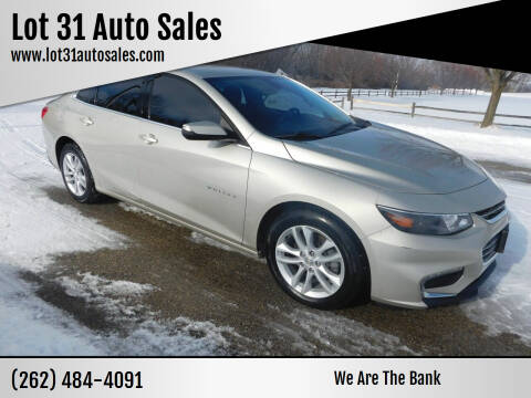 2016 Chevrolet Malibu for sale at Lot 31 Auto Sales in Kenosha WI