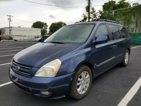 2007 Kia Sedona for sale at Eden Cars Inc in Hollywood FL