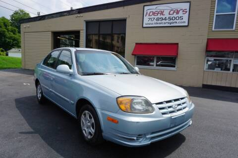 2004 Hyundai Accent for sale at I-Deal Cars LLC in York PA